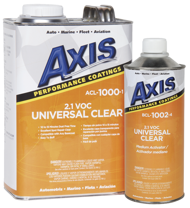 UNIVERSAL CLEAR 2 1 VOC - Axis Performance Coatings