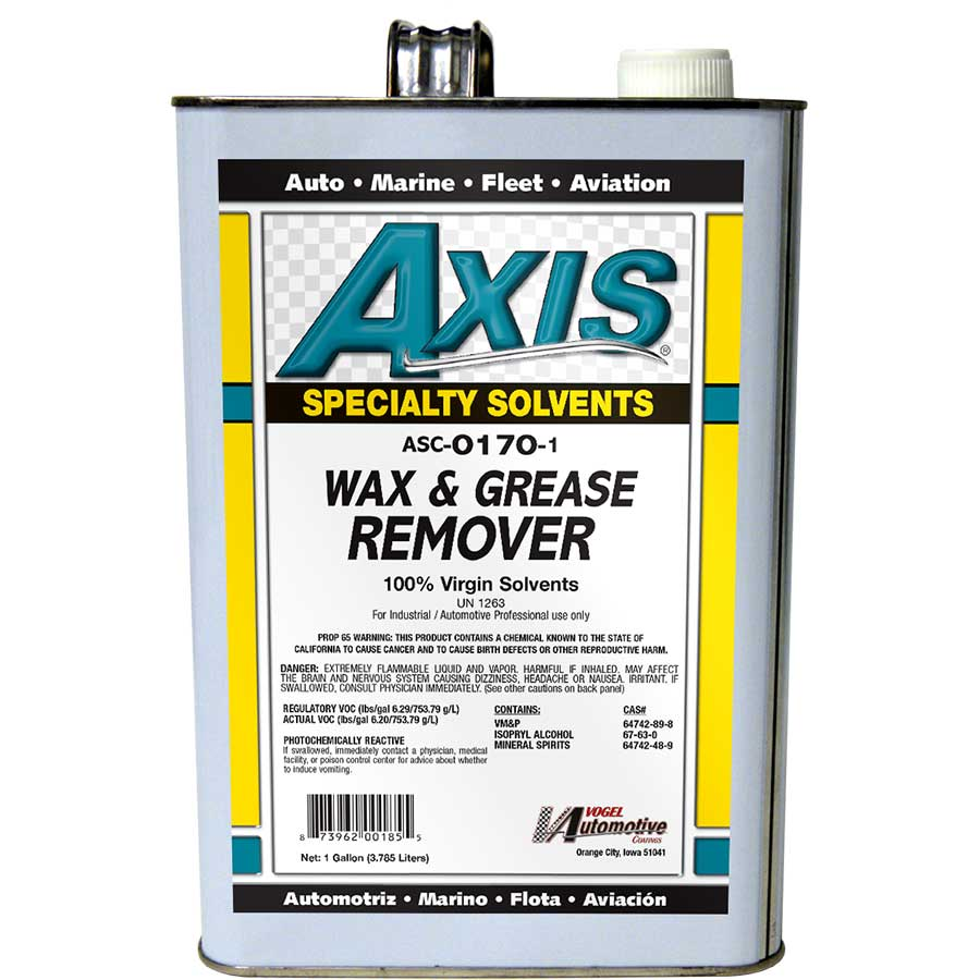 Axis Coatings Wax & Grease Remover - AXI-ASC0170-1