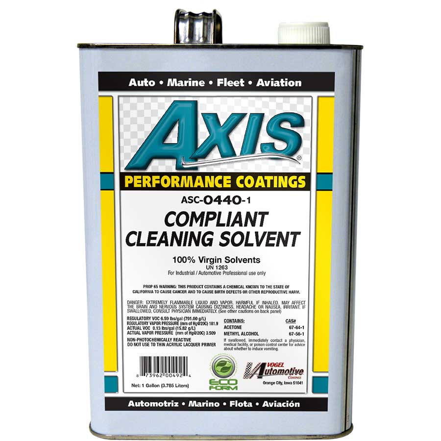 Axis Coatings Compliant Cleaning Solvent - AXI-ASC0440-1