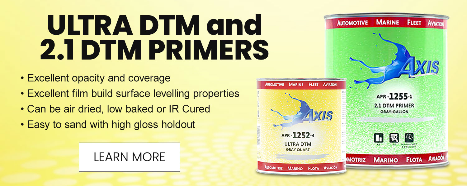 Axis Coatings Ultra DTM and 2.1 DTM Primers